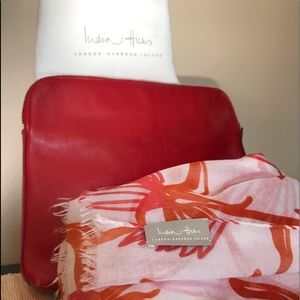 India Hicks clutch purse and neck scarf
